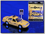 NYC Taxi Cab & Sign Set by DARON WORLDWIDE TRADING
