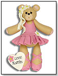 Ballerina Belly Bear Personalized Ornament by DEB & CO.