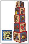 WJ Fantasy - Cuddly Bears Soft Building Blocks & Board Book by BABALU INC.