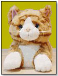 Stuffed Tabby Cat Slippers by TRANSWORLD PLUSH TOYS INC.
