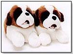 Stuffed Saint Bernard Slippers by TRANSWORLD PLUSH TOYS INC.