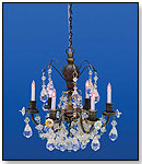 Six-Arm Crystal Chandelier by HOUSEWORKS LTD.