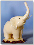 Tagua Nut Elephant by THE ETHNIC COLLECTION S.A.