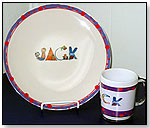 Personalized Melamine Plate and Mug by GOOD BUDDY NOTES