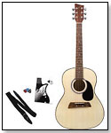"Big Kids 36"" Player Series Acoustic Guitar (White with Stickers) by FIRST ACT"