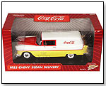 RC2 Brands - Johnny Lightning Coca-Cola - Chevy Sedan Delivery (1955, 1:18, White/ Yellow) by TOY WONDERS INC.