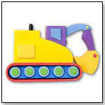 Under Construction Digger & Bull Dozer Magnet by OLIVE KIDS DIRECT LLC
