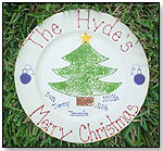 Christmas Tree Plate by M AND S CREATIONS