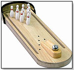 Executive Desk Top Wood Bowling Game by FUNWORKS