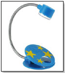 2 LED Flex-Neck Reading Light Blue w/Yellow Stars by LIGHTWEDGE
