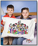Disney Mickey & Friends Holiday Pillowcase Art by JANLYNN CORP.
