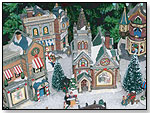 Porcelain Christmas Villages and Ornaments by FOREVER GIFTS INC.
