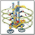 Quercetti Skyrail Suspension Rollercoaster with Elevator by INTERNATIONAL PLAYTHINGS LLC