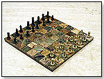 Natural Stone Chess Sets by PEBBLEART INC.