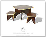 Ecotots Surfin' Project Table and Stool Set - Cocoa by ECOTOTS