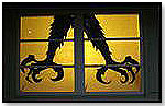 Window Poster Silhouettes - Double Claws by HOUSEHAUNTERS