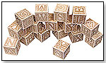 Schoolhouse Naturals ABC Block Set by MAPLE LANDMARK WOODCRAFT CO.