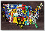 Wall Decor - USA Map (License Plates) by Creative Images - Art4Kids