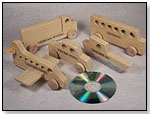 Wood Vehicles and CD by VAMOS KIDS