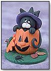 Black Cat Peeking Out of Pumpkin by CHERYL'S LITTLE CREATIONS
