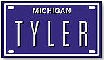 License Plate by BLUE SABRE INC.
