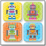 Robot Square Plate Set - 4 Assorted by FRENCH BULL LLC