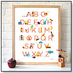 My Favorite Things - Alphabet Poster by PETIT COLLAGE