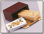 Travel Cribbage Board by WOOD EXPRESSIONS INC.
