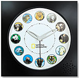 Animal Sounds Wall Clock by NATIONAL GEOGRAPHIC SOCIETY