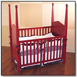 Heritage Crib - Red by BRATT DECOR