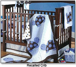 recalled crib kids product baby bed dropside