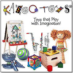 kazoo toys charity donation logo toy store specialty toys