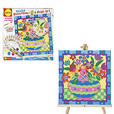 Deluxe Painting and Easel Set - Flowers