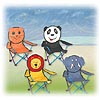 Super Fun Animal Folding Chairs by PACIFIC PLAY TENTS INC