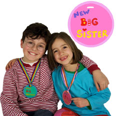 New Big Sister Children's Medal