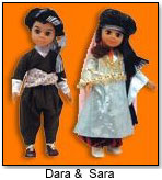 Sara and Dara dolls