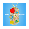 Enamel Cheerleader Dog Tag Necklace by COOL JEWELS WHOLESALE FASHION JEWELRY