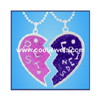Enamel Best Friends Heart Necklaces by COOL JEWELS WHOLESALE FASHION JEWELRY