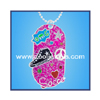 Enamel Soccer Dog Tag Necklace by COOL JEWELS WHOLESALE FASHION JEWELRY