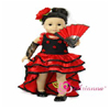 Nina Flamenco Dress - 4pcs. by DREAM BIG WHOLESALE DOLL CLOTHES LLC