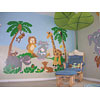 Large Jungle Story Wall Mural by ELEPHANTS ON THE WALL