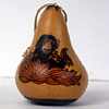 Gourd Critterz Ornament - Chimpanzee with Bananas by LITTLE CRITTERZ