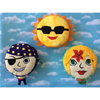 Dream Frenz® PJ the Pirate, Merry the Mermaid and Sol the Sun by MAF INDUSTRIES