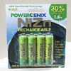 PowerGenix NiZn AA Rechargeable Batteries – 4 Pack by PowerGenix