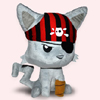 Pirate Kitty by TENTACLE KITTY