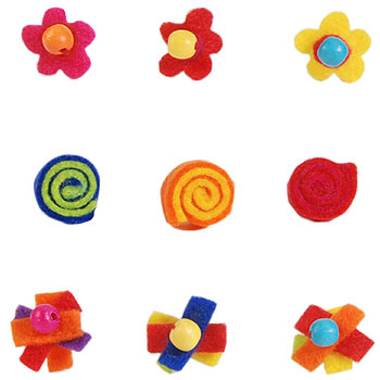 Felt Earrings by COLORI USA/TATIRI