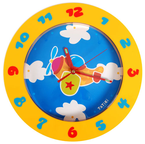 Wall Clock Plane by COLORI USA/TATIRI