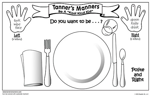 table setting coloring pages - photo #18