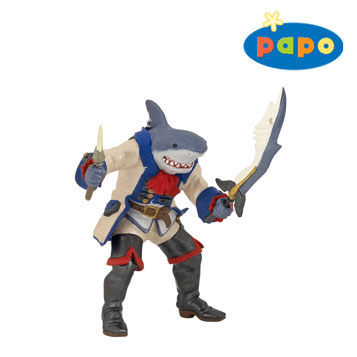 Papo – Shark Mutant Pirate by HOTALING IMPORTS