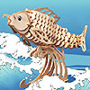 Carp Wooden Puzzle by PUZZLED, INC.